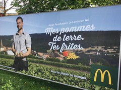 It almost sounds better in French. Billboard, Delmont. (jillyjally) Tags: mcdonalds billboard fries