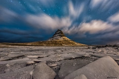 Ice Land (Fabio tomat) Tags: longexposure winter sky mountains ice nature night clouds stars iceland nikon nuvole nightscape wind inverno kirkjufell nigh ghiaccio islanda churchmountain nikon1424f28ed fabiotomat nikond750
