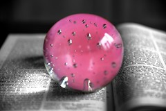 The Choice (Pics4life.nl) Tags: pink light color glass ball book licht words faith letters bible glas lettre roze woorden
