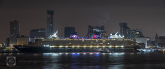 The Disney Magic Mersey inaugural (alun.disley@ntlworld.com) Tags: city longexposure panorama tourism water night liverpool reflections transport shipping disneymagic cruiseliner rivermersey portsandharbours liverpoolwaterfront