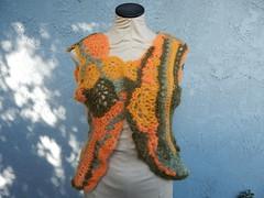 Freeform lace vest (atgaiva) Tags: crochet freeform