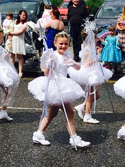 Photo of Lauren in the post fair parade!