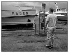 Baden (Foto_Michel) Tags: street lake water look boot boat blackwhite wasser ship streetphotography schwarzweiss baden bodensee schiff constance