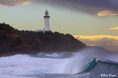 0S1A8008 (Steve Daggar) Tags: lighthouse seascape storm surf waves moody dramatic wave australia coastline norahhead soldiersbeach