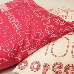 whoopee cushions cream and pink (rethinkthingsltd) Tags: pink home fun grey living bedroom funny room joke cream parry humour livingroom pillow sofa decor cushion typographic whoopee ilsa rethinkthings