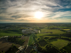 Mensignac Sunset (Raphal Melloul) Tags: sunset france green beautiful landscape photography photo amazing photographer photos top aerial explore photograph phantom raphael discover picoftheday photographe drone photographies melloul dji bestoftheday mensignac