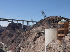 Hoover Dam Bridge and Power Pylons (Yortw) Tags: bridge lumix power unitedstates dam panasonic nv april hoover pylons bouldercity 2016 microfourthirds dmcg10