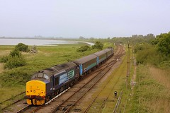 High Tide at Breydon Water. (Chris Baines) Tags: water great loco norwich service yarmouth aga approaching breydon hauled 0947