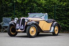 BMW 319. Brooklands Double Twelve Festival 19.6.2016 (Jackbaker53) Tags: brook lands brooklands double twelve doubletwelve festival bmw 319 vintage classic race car black cream