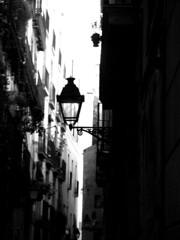 Gothic Quarter (gaypunk) Tags: barcelona street light lamp spain alley gothic catalonia quarter narrow gothicquarter