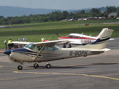 G-BOPH Cessna 182 RG (Aircaft @ Gloucestershire Airport By James) Tags: james airport gloucestershire cessna lloyds 182rg egbj gboph