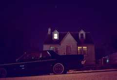 (patrickjoust) Tags: auto road county street usa house black home car night analog america 35mm dark us md focus automobile long exposure suburban kodak united north patrick maryland ground rangefinder olympus baltimore 100uc vehicle cape after suburb states manual xa cod joust range finder zuiko f28 estados unidos autaut patrickjoust