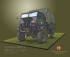 British Ford WOT-8 30cwt lorry ((The) Appleman) Tags: truck 4x4 military wwii lorry ww2 vehicle british desertrats 15ton 30cwt fotocreations novaman396 theappleman 7thamoureddivision