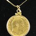 J8. 1905 Gold Sovereign Edward VII Coin Necklace