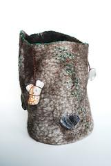 tree trunk vessel (marchi.wierson) Tags: felted felting embroidery vessel fiberart fibers icelandic bfl marchi