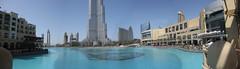 Panorma of the Dubai Mall area and Burj Khalifa (cissibackman) Tags: panorama building digital canon mall shopping dubai uae ixus khalifa torn fountains unitedarabemirates burj highest burjdubai fontn byggnad hgsta kpcenter frenadearabemiraten 110is burjkhalifa