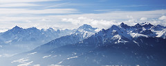Innsbruck / Austria (cl6m6ns) Tags: innsbruck mountain mount tirol tyrol austria blue snow snowy winter mist mountains mountaineering d90 nikon sky cloud nature landscape
