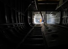 SS Robin Cargo Hold (JmsSplln) Tags: light london dark ship darkness wideangle cargo steamship hold royalvictoriadock converginglines ssrobin royaldocks