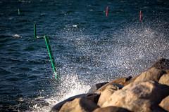 Channel Buoys In Rough Seas (Mabry Campbell) Tags: ocean blue seascape photography coast photo skåne rocks europe photographer image wind sweden salt windy coastal photograph 100 sverige february splash scandinavia buoys malmö f28 malmo saltwater 2012 oresund øresund öresund 200mm skane sesa ef200mmf28liiusm channelmarkers canonef200mmf28liiusm eos5dmarkii ¹⁄₁₂₅₀sec mabrycampbell february262012 20120226201202260957