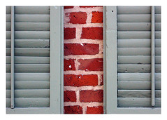 New Orleans 1209 1859 (woody lauland) Tags: color colour brick classic texture architecture composition vintage louisiana graphic traditional neworleans historic brickwall frenchquarter shutters nola vieuxcarre architecturaldetails