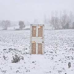 Memory (Lou Bert) Tags: door snow france field laurenbatesphotography flickr12days
