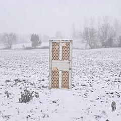 Memory (Lou Bert) Tags: field france snow door laurenbatesphotography flickr12days