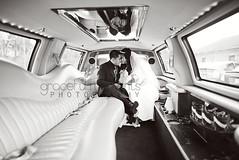 bride & groom limo (Melissa--Ann) Tags: wedding portrait white black groom bride sweet 14 environmental limo 24 moment