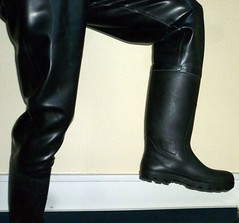 rubberboots rubberwaders (lulax40) Tags: waders rubberboots gummistiefel fetishism rubberfetish rubberist gummifetish wathose rubberwadingpants