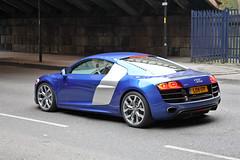 Audi R8 V10 - LOV 17T (Dave-D) Tags: street blue manchester victoria audi coupe v10 52 quattro r8 a56 lov17t
