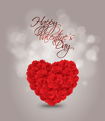 Heart of Roses (DryIcons) Tags: red roses love heart background valentine card vector happyvalentinesday