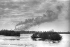 Dark Steam (simonjames2) Tags: uk winter england ice nature station mono power ratcliffe smoke towers reserve attenborough steam february nottinghamshire 2012 sigma1770 ng9 ratcliffeontrentpowerstation pentaxkr