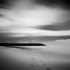(josh leahy) Tags: ocean sea blackandwhite bw seascape beach water canon square landscape bay sand expression expressionism nophotoshop minimalism 2470l goldcoast fingalheads 5dmkll joshleahy joshleahyphotography