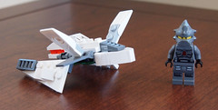Day 44 - Feb 13/12 (GeoKs) Tags: white building ship lego dragonfly space mini micro minifig custom spaceracer