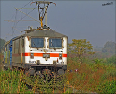 AP Express (Raj Kumar (The Rail Enthusiast)) Tags: new canon delhi indian express andhra railways raj pradesh kumar wap7 30259 bhopan sx30is