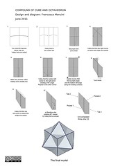 Compound of cube and octahedron (mancinerie) Tags: compound origami cube paperfolding modularorigami octahedron