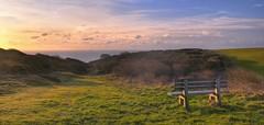 Sunrise seat (Phil John Martin) Tags: light haven downs landscape sussex cuckmere