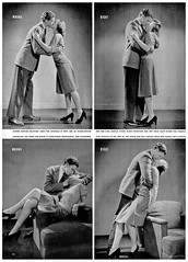 1942 ... how to kiss! (x-ray delta one) Tags: illustration vintage magazine ads advertising driving suburban ad suburbia retro nostalgia 1940s americana linoleum atomic populuxe housewife nylon coldwar postwar popularscience popularmechanics magazineillustration rationing