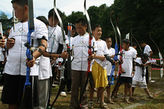 "Kids excited to shoot thier first Olympic style arrow • <a style=""font-size:0.8em;"" href=""http://www.flickr.com/photos/76929546@N08/6893080277/"" target=""_blank"">View on Flickr</a>"