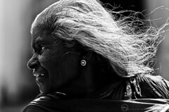 Black Diamond (ayashok photography) Tags: portrait bw temple blackwhite nikon monotone oldwoman bathing sideprofile bnw tamilnadu ear