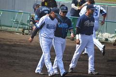 DSC_0733 (mechiko) Tags: 横浜ベイスターズ 120212 渡辺直人 藤田一也 横浜denaベイスターズ 2012春季キャンプ