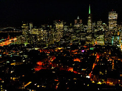 San Francisco (SergeK ) Tags: sf sanfrancisco light usa west tower night coast san francisco nightshot unitedstates scene explore neighbourhood coit dazzling sergek