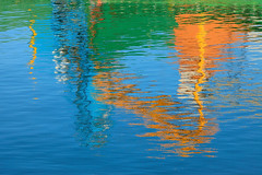 Color (rgarrigus) Tags: england painterly reflection water bright yorkshire quay shipyard blyth brightlycolored garrigus robertgarrigus robertgarrigusphotography abstractgreatphotographers blythquay