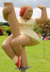 Pole dancing (Angie NZ) Tags: sculpture aucklandbotanicalgardens