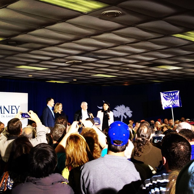Mitt Romney with NIKKI HALEY in Sumter SC