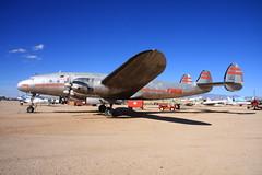 N90831 TWA Lockheed L-049 Constellation (flyingaxel) Tags: museum tucson aviation super pima lockheed airandspace twa constellation