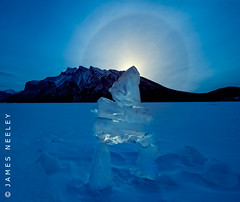 Photo Zen (James Neeley) Tags: winter canada sunrise landscape banff parhelion sundog f12 banffnationalpark lakeminnewanka jamesneeley