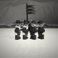 (moksimil) Tags: bw white black monochrome square four lego 4 guys sw monochrom schwarz vier badboys quadratisch wildboys weis badboysblack
