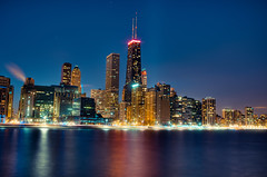 Say it slow, I'm from Chicago (Brian Koprowski) Tags: city chicago skyline night reflections lights illinois downtown pentax lakemichigan lakeshoredrive lsd hdr topaz ohiostreetbeach olivepark pentaxk5 briankoprowski bkoprowski bk|photograffi