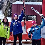 Red Mountain Miele Cup GS Podium 1. FIELD Charley;   2. STEEVES Kelly;   3. MICHALIK Victoria PHOTO CREDIT: Gregor Druzina