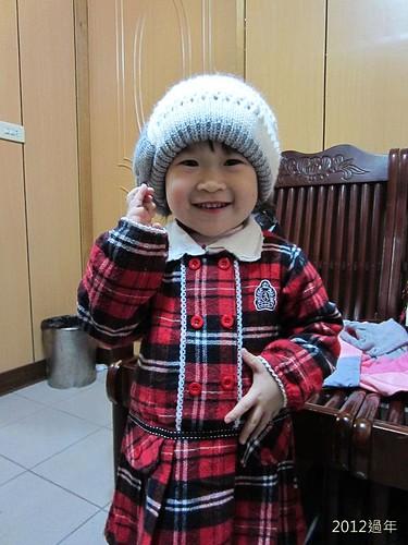 2012過年-IMG_3801-冬冬戴帽子